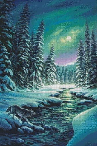 A Quiet Stroll (Crop) by Artecy printed cross stitch chart